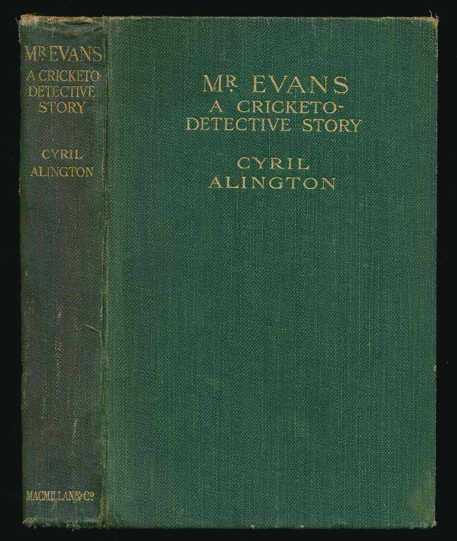 Mr. Evans : a cricketo-detective story