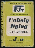 Unholy dying : a detective story