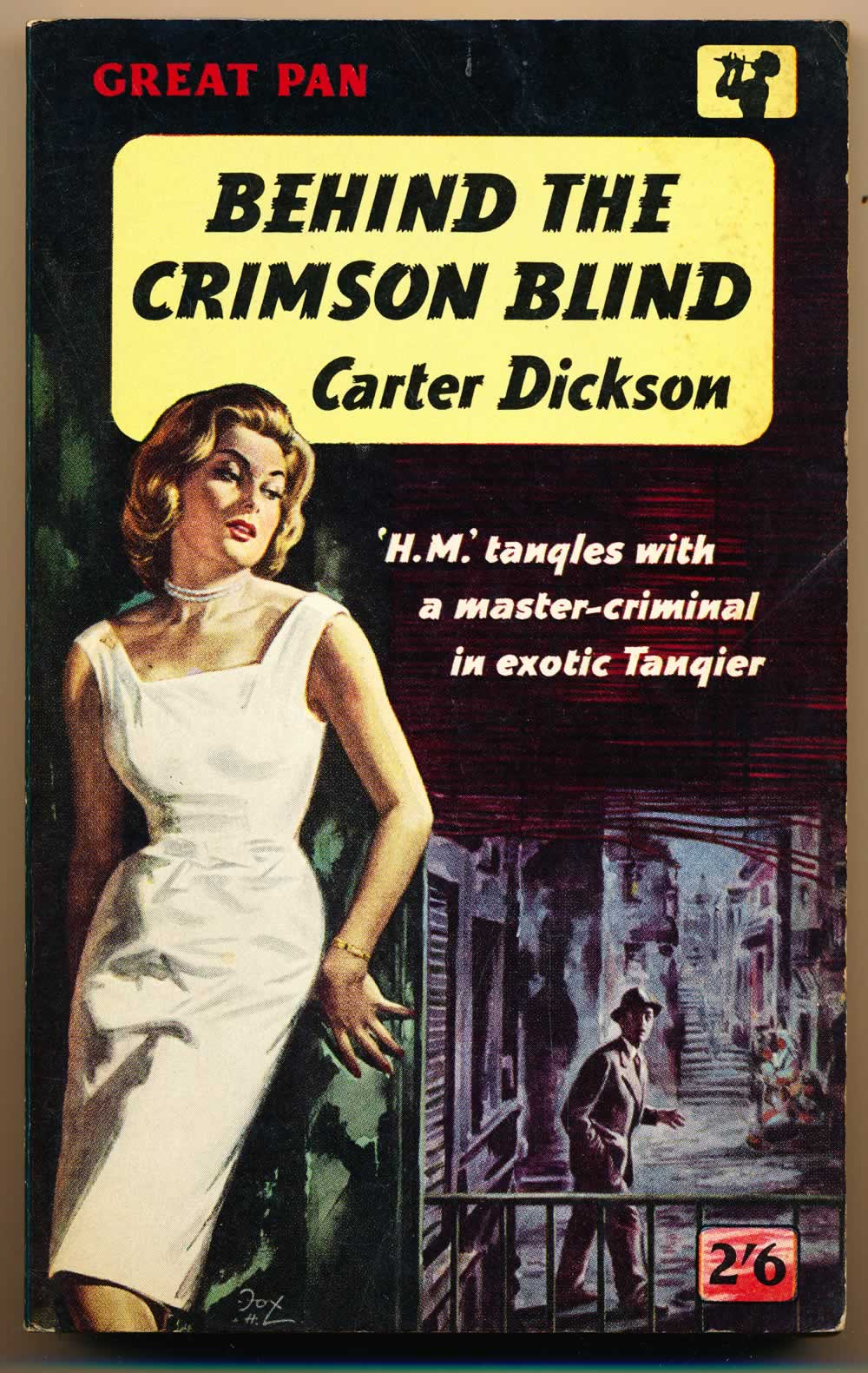 Behind the crimson blind