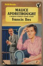 Malice aforethought : a novel of murder