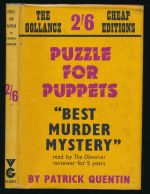 Puzzle for puppets: a Peter Duluth mystery