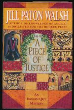 A piece of justice: the second Imogen Quy mystery