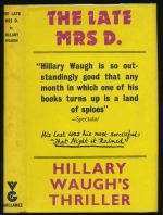The late Mrs D.