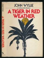 A tiger in red weather