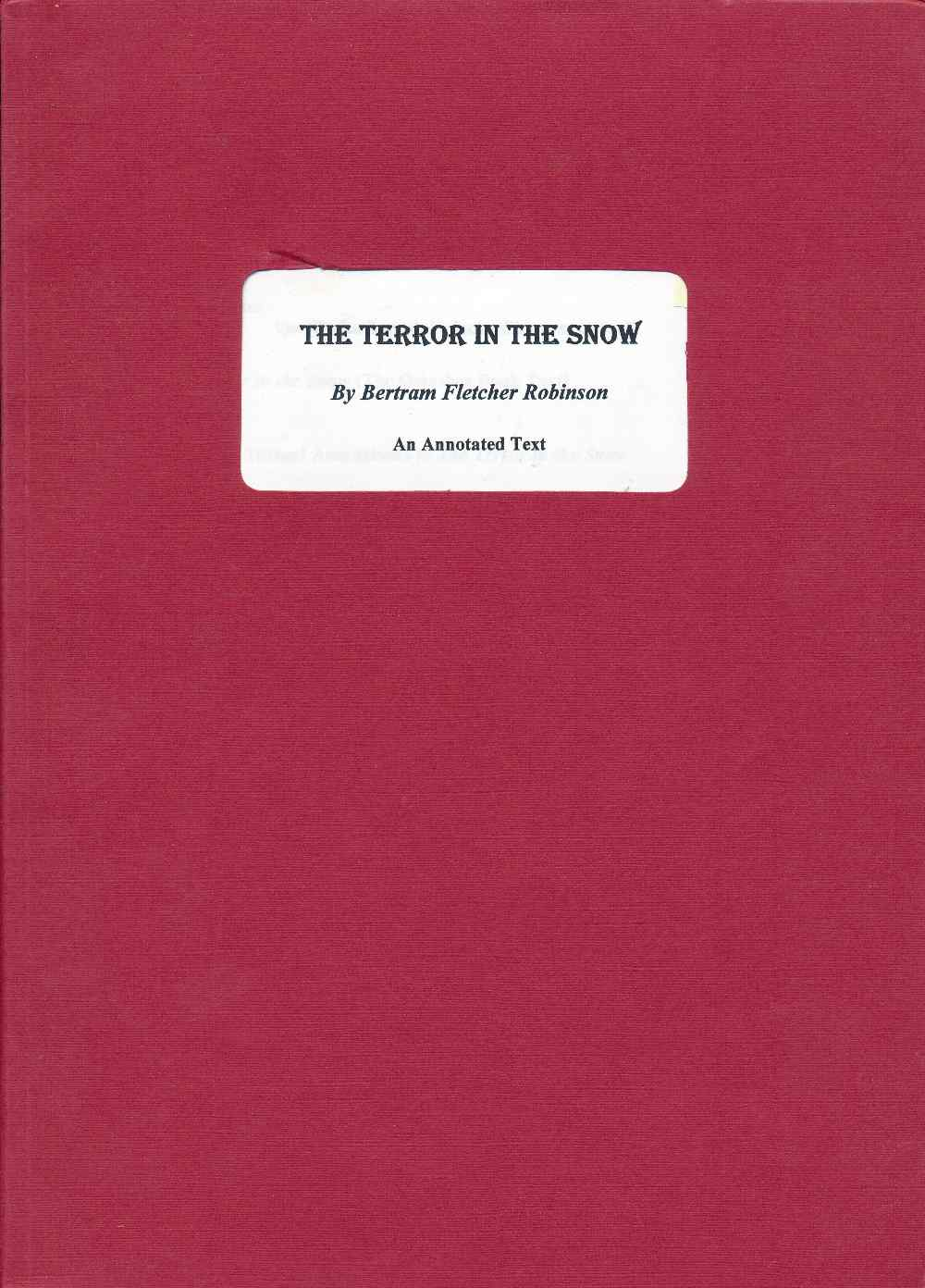 The terror in the snow