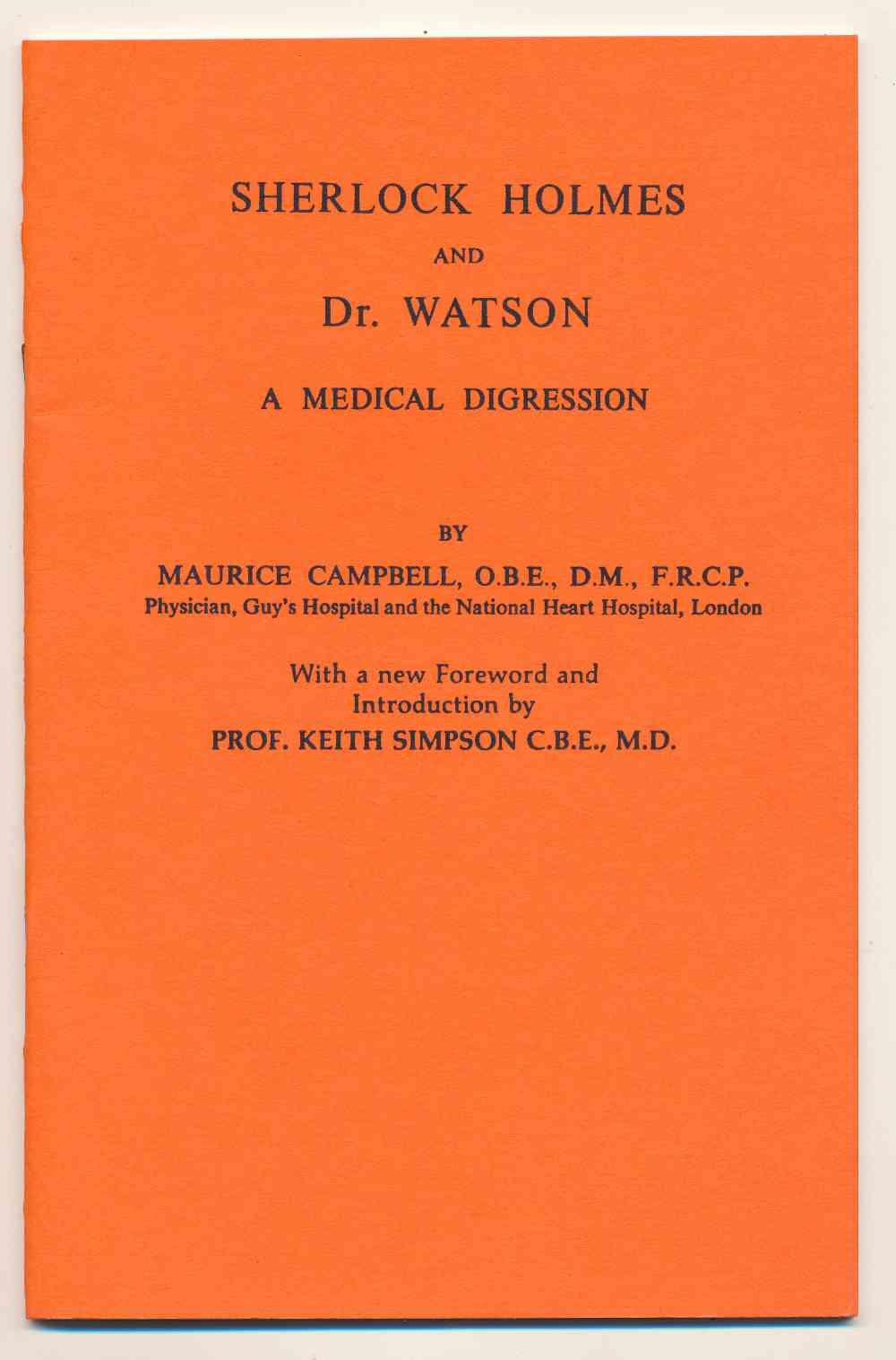 Sherlock Holmes and Dr. Watson : a medical digression