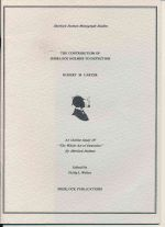 "The contribution of Sherlock Holmes to detection : an outline study of ""The whole art of detection"" by Sherlock Holmes"