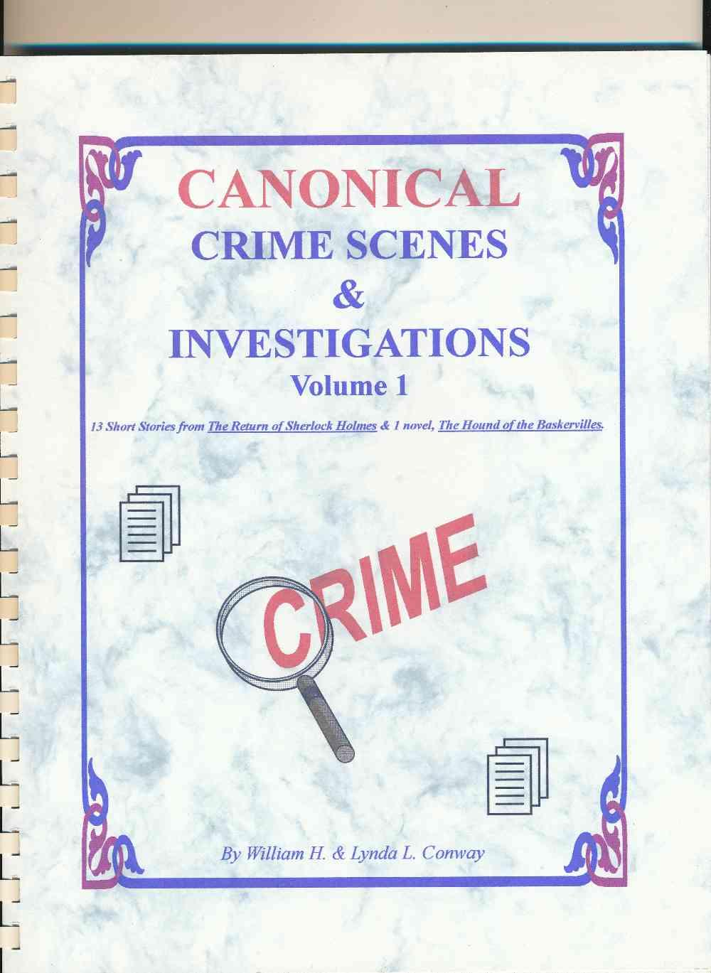 Canonical crime scenes and investigations. Volume 1