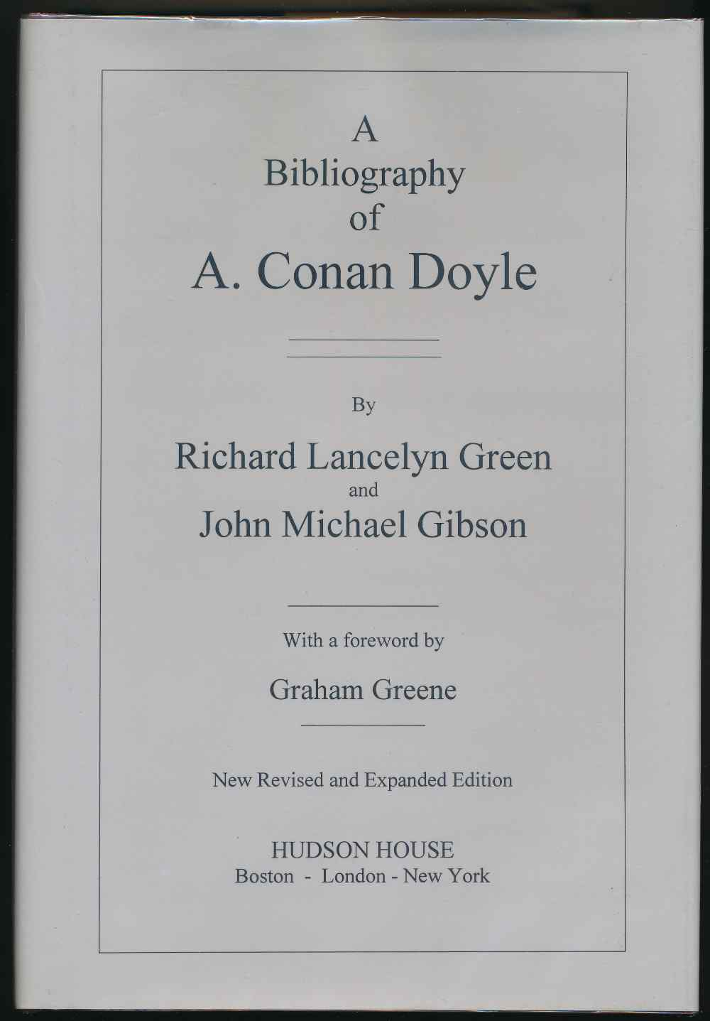 A bibliography of Conan Doyle