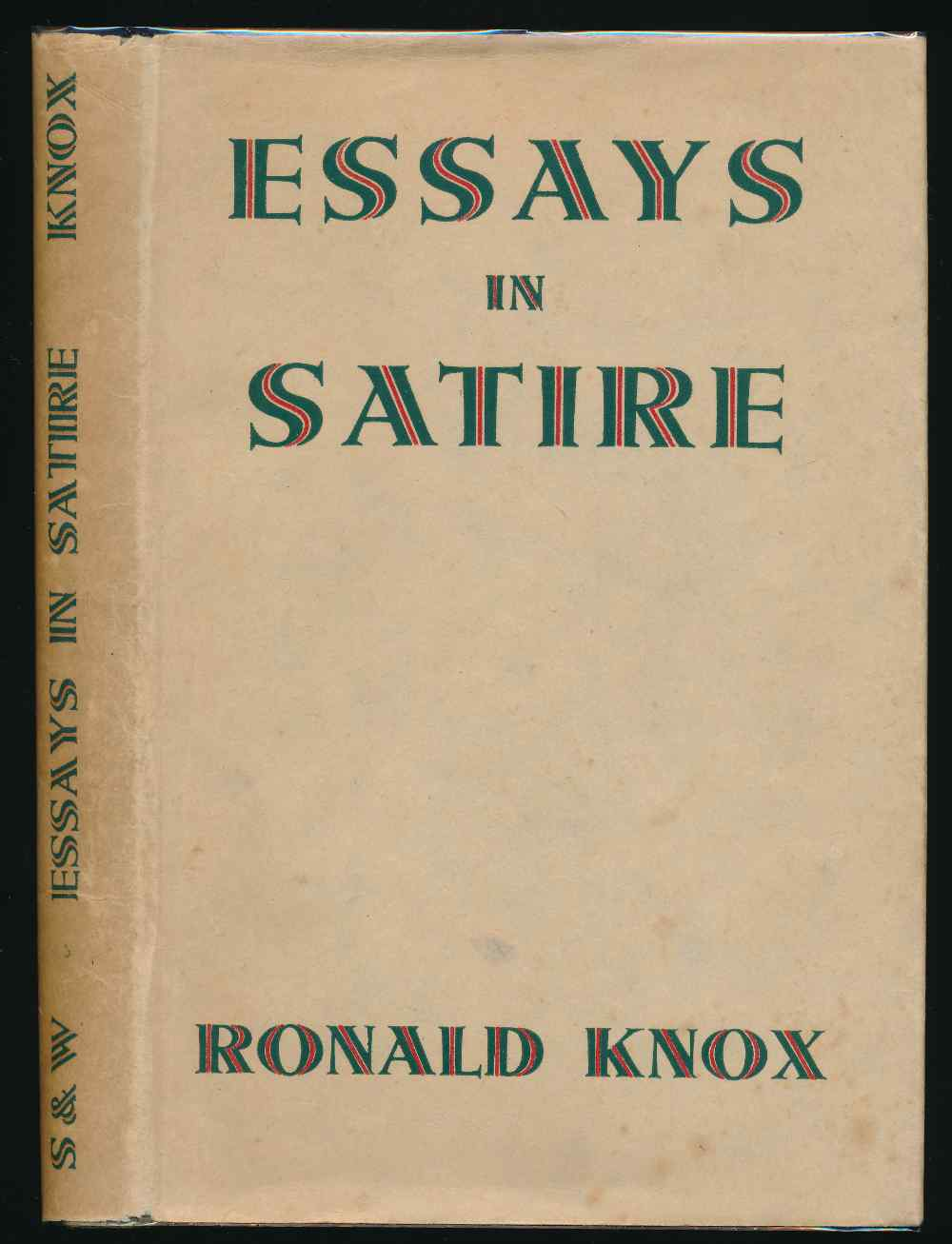 Essays in satire