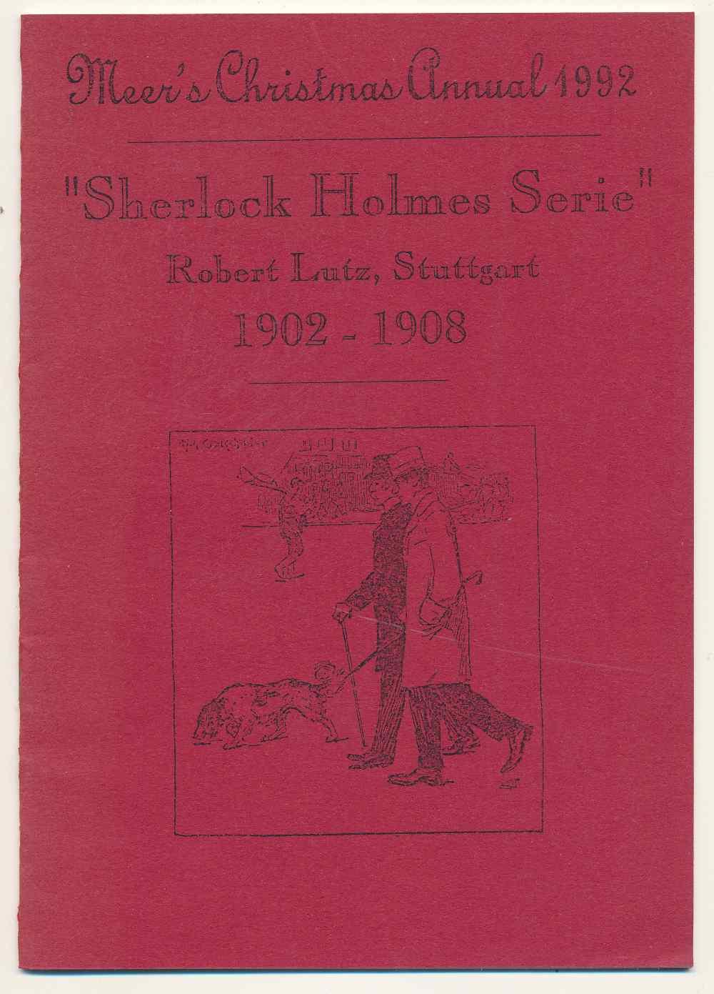 """""""Sherlock Holmes Serie"""" : Robert Lutz, Stuttgart 1902-1908"""