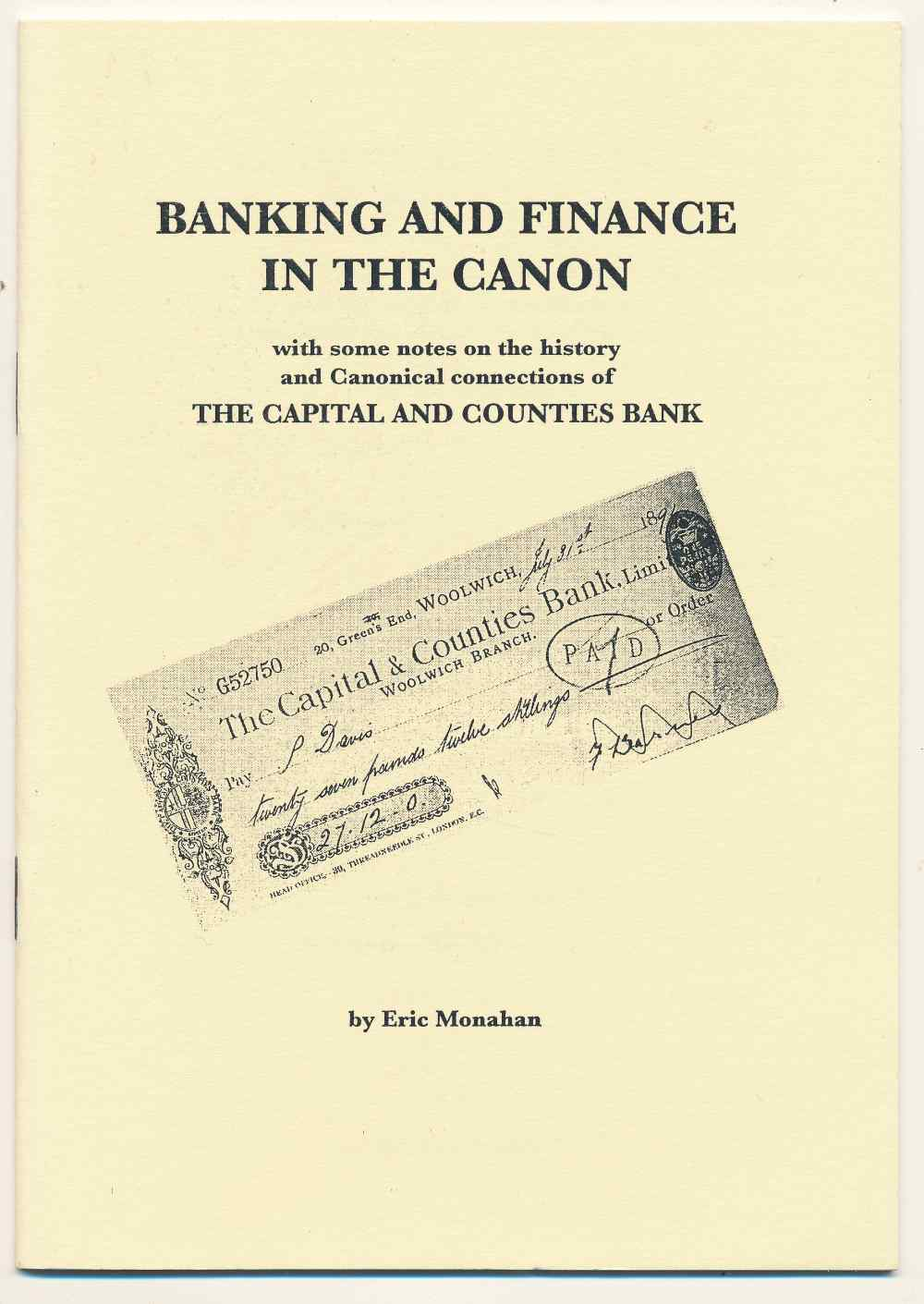 Banking and finance in the canon, with some notes on the history and canonical connections of the Capital and Counties Bank