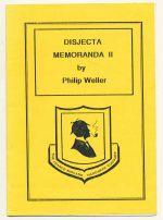 Disjecta memoranda II : a divertissement to accompany the Franco-Midland Hardware Company excursion to Crowborough and Royal Tunbridge Wells [Disjecta Membra II] Saturday 11th January 1992