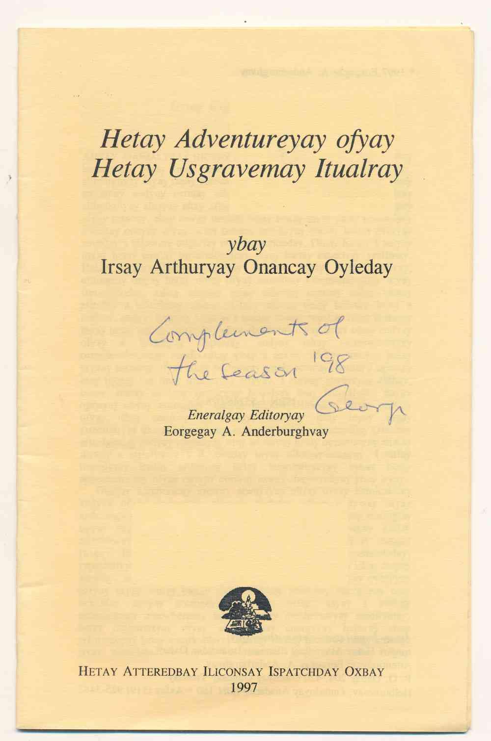 Hetay adventureyay ofyay hetay Usgravemay Itualray