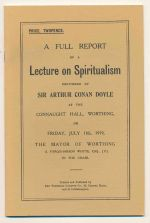 A full report of a lecture on spiritualism