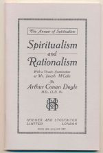 Spiritualism and rationalism, with a drastic examination of Mr Joseph McCabe