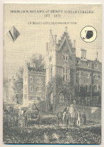 Sherlock Holmes at Sidney Sussex College 1871-1873 : an imaginative reconstruction