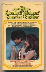The adventure of Sherlock Holmes' smarter brother : a novel