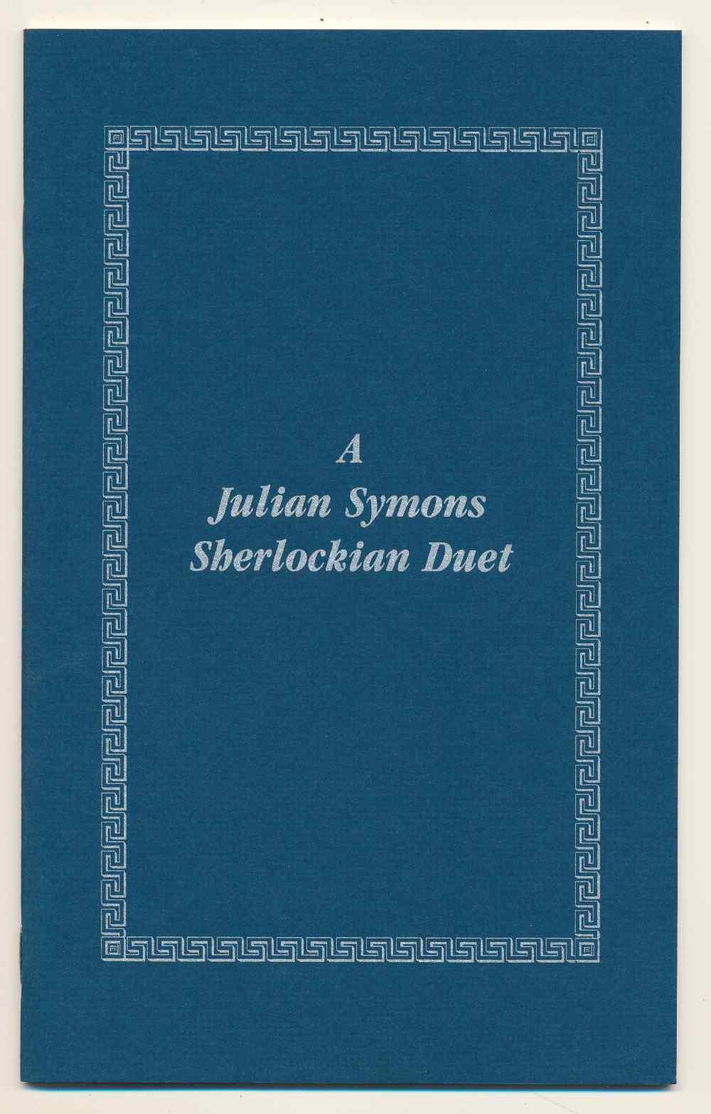 A Julian Symons Sherlockian duet