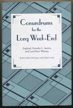 Conundrums for the week-end : England, Dorothy L. Sayers, and Lord Peter Wimsey