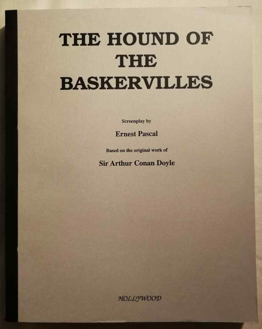 The hound of the Baskervilles : screenplay