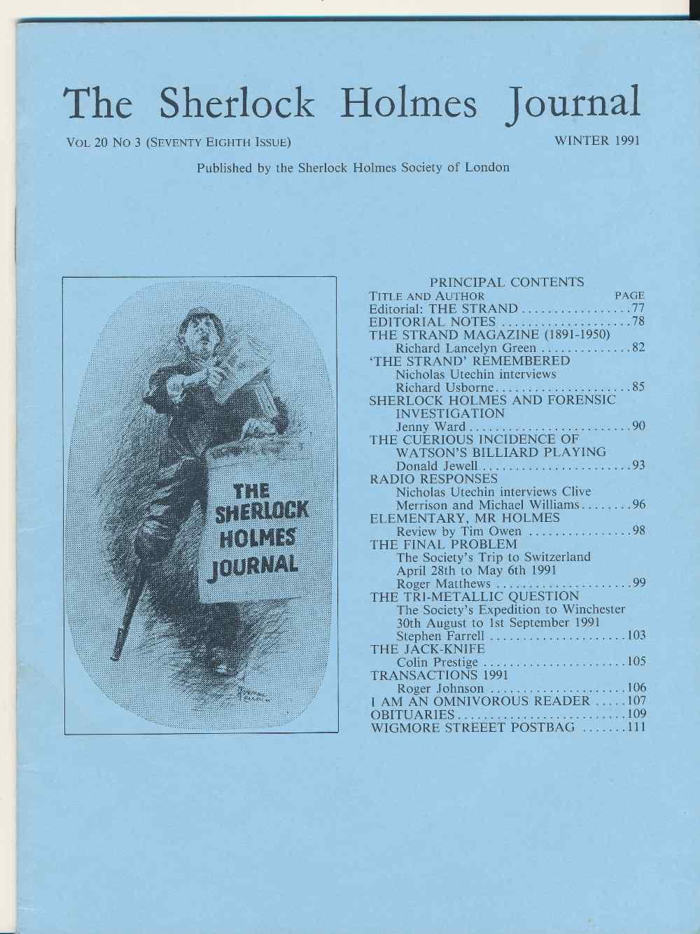 The Sherlock Holmes Journal